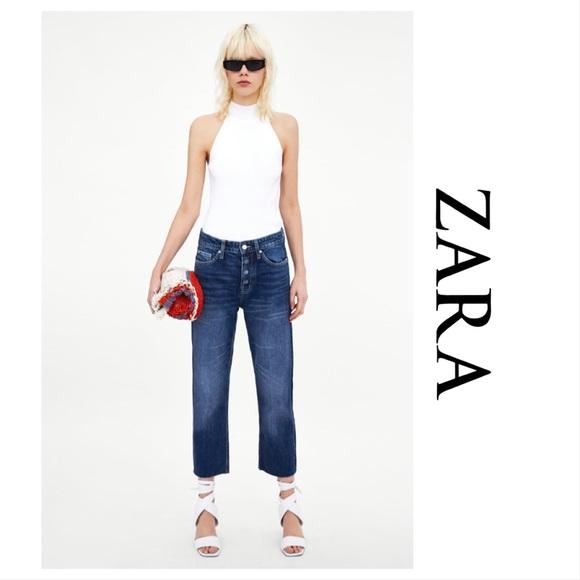 9cfc5050 Zara Jeans | Nwt Highrise Straight Leg | Poshmark